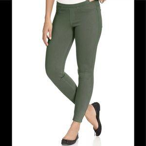 HUE Original Denim Leggings Olive Green Seize M